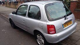 Nissan Micra silver,10 months MOT,Good runner,new tyres,Very cheap