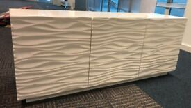 White Cabinet 59'inches long x 17' inches deep x 2 feet high