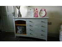 Grey Chest Of Drawers Bookcase Dresser Sideboard Console French Shabby Chic Boxing Hares