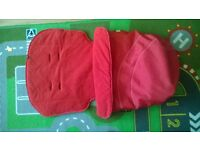 mothercare buggy liner with detachable foot muff