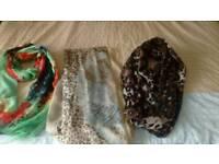 Ladies scarf bundle £2.50