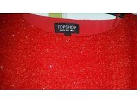 topshop crop top size 8