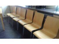 6 Next beech kitchen chairs.
