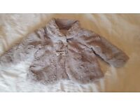 9-12 months baby girls coat grey excellent condition