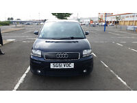 RARE AUDI A2 1.4 TDI SPECIAL EDITION WITH FULL LEATHER UPHOLSTERY, 5 DOOR HATCHBACK , DARK BLUE