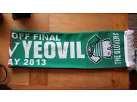 Yeovil vs Brentford Wembley 2013 football match day scarf