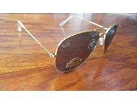 New Original Ray Ban Aviator Sunglasses RB3025 Gold Frame