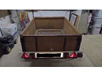 Reduced - Wooden box trailer