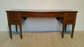 Attractive Large Late Georgian Mahogany Sideboard