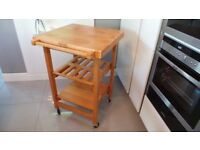 OASIS ISLAND - solid wood kitchen island with Butchers Block Flip top EXCELLENT