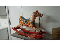 Rare old funfair rocking horse