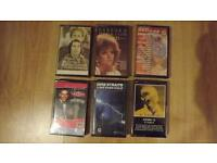 Audio cassettes- 60's, 70's, 80's and 90's classic artists
