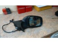 PEUGEOT 407 RIGHT DRIVER SIDE POWER FOLD WING MIRROR IN GREY EZWD