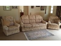 LOUNGE SUITE - Sofa and 2 Armchairs. £100 or BEST OFFER!! BEREAVEMENT SALE BARGAIN!! Try your luck!!