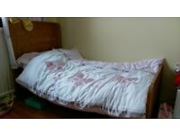 John Lewis wooden cot bed