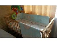 Baby cot and bath