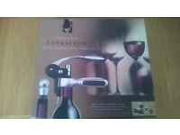 Connoisseur Corkscrew with Stopper and Stand by BarCraft