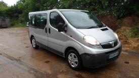 2009/09 Vauxhall Vivaro 9 seat SWB Mini Bus 2.0 Turbo Diesel not trafic traffic ** call 07956 158103