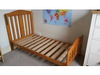 Good condition cot bed/junior bed with under bed drawer