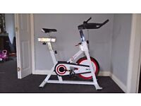 "Crystaltec spin exercise bike 18"" fly wheel with digital display"