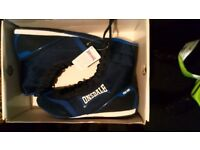 NEW LONSDALE MITCHUM 1 PRO BOXING SHOE BLACK/BLUE MENS ADULT LIGHTWEIGHT BOOTS