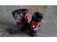 Boys spiderman boots size 11