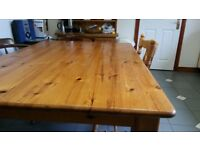 Pine Kitchen Table 70 inches long
