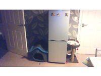 silver fridge freezer