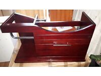 CRW Walnut Yoko Solid Wood Bathroom Vanity Cabinet RRP £199