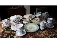 Vintage china and tableware