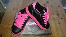 Pink & Black Heelies in Excellent Condition size 13