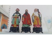 OCBC Bank Vintage Coin Bank Money Box Traditional Chinese Figures