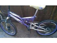 girls dunlop mountain bike disc brakes girls hello kity bike womans/girl retro lookalike bike