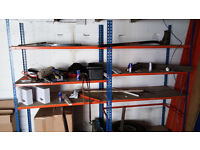 Metal Shelving Industrial Boltless Racking Garage Heavy Duty Shelf Bay 4 Tier 3 units