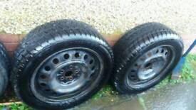 16inch winter tyres on steel wheels vgc