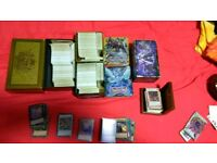 Yu-Gi-Oh collection with tins, fully ready deck and wood deckbox