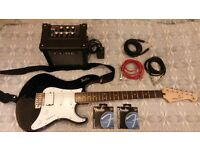 Yamaha Electric Guitar With Roland Practise Amp