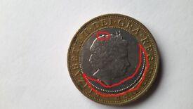 2 Pound coin error.