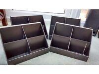 Set of 4 black cardboard display stands - seconds