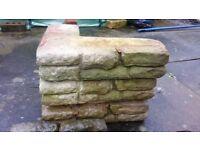 Stone-effect garden walling blocks - job lot or as individual pieces