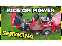 Ride on lawn mower / pedestrian mower / all garden machinery servicing, sales, parts & repairs