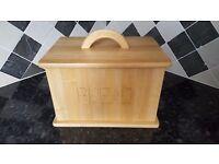 Traditional Wooden Bread Bin