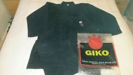 4 x Martial Arts Uniforms (Giko and Blitz) and 2 x Boots