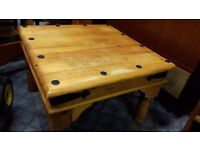 Solid Pine Mexican Coffee Table