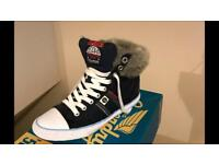 Superdry Hi-Top trainers size 4 Nearly New