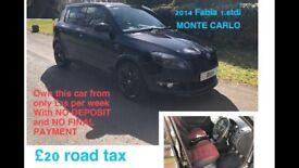 2014 SKODA FABIA 1.6Tdi MONTE CARLO 20 pound tax ( same engine as Vw golf ,seat Leon & Audi A3 TDI )