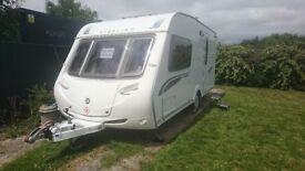 Sterling Eccles Topaz 2008 2 Berth Touring Caravan End Washroom M/Mover Awning