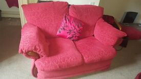 2 x 2 Red Seater Sofas (Collection only Sinfin Derby)