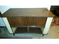 VERY RARE VINTAGE 1960's Sideboard/Drinks Cabinet Converted from Sobel Radiogram