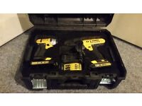 DEWALT DCZ298S2T 18V 1.5AH LI-ION CORDLESS COMBI DRILL & IMPACT DRIVER TWIN PACK- Collection Only.
